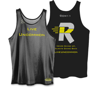 Quad City Marathon Mens Wicking Tank
