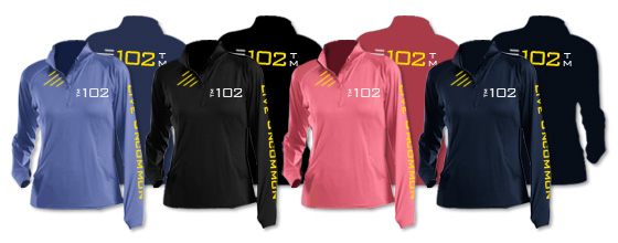 Available  Ladies Medium Weight Half-Zip Pullover Colors